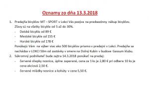 Oznamy 13.3.2018