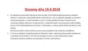 Oznamy 19.4.2018 I