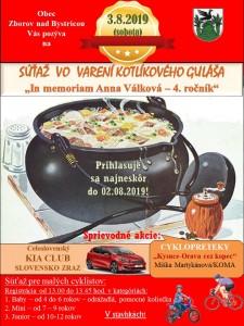 Plagát - prezentácia - súťaž vo varení guláša