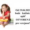 knižnica otvorená