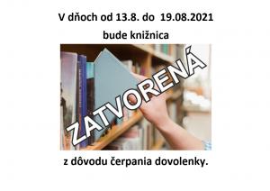 Knižnica zatvorená